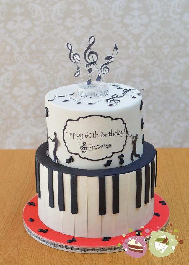 Brilliant Music Themed 60Th Birthday Cake Cake By Ks Cake Design Cakesdecor Personalised Birthday Cards Akebfashionlily Jamesorg