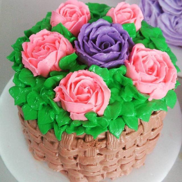 Torta Canasta de Flores