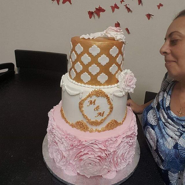 Gâteau de mariage d'Or