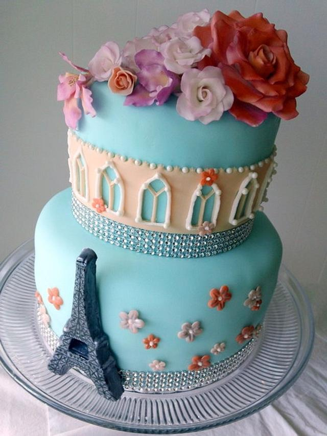Paris Cake For Mom