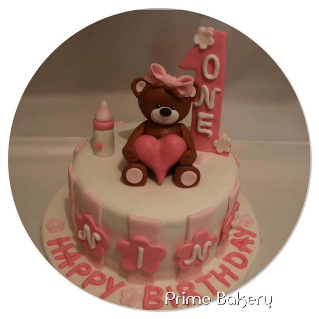 Teddy birthday cake