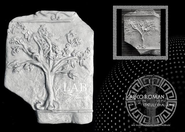 """""""El arbol de la vida"""" bas relief Greco Roman Statues Challenge by BAKERSWOOD INTERNATIONAL"""