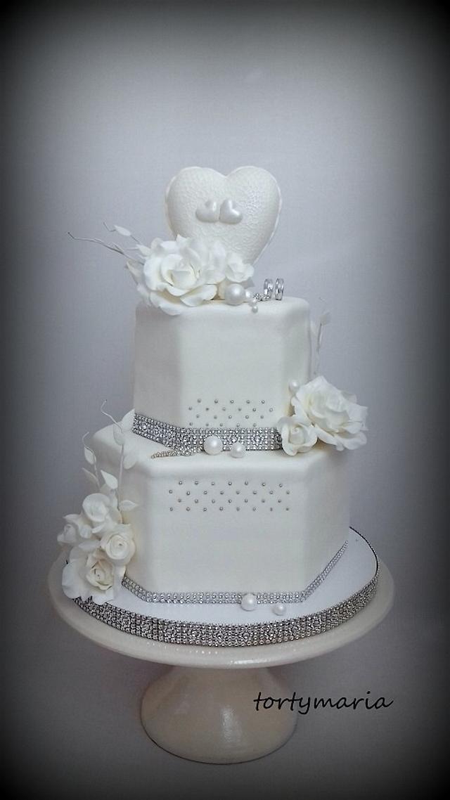 White Silver Wedding