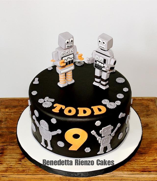 Pleasant Robot Birthday Cake Cake By Benni Rienzo Radic Cakesdecor Personalised Birthday Cards Epsylily Jamesorg