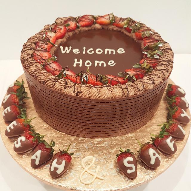 Welcome home cake
