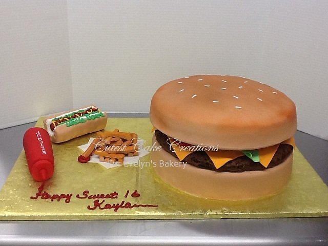 Burger, fries and hot dog anyone??
