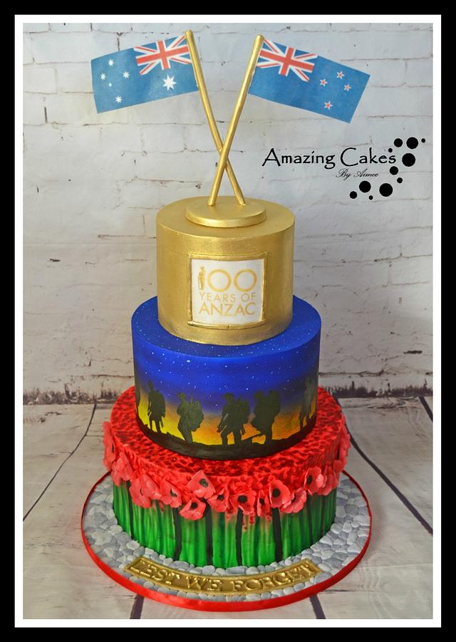 Anzac Collaboration Cake
