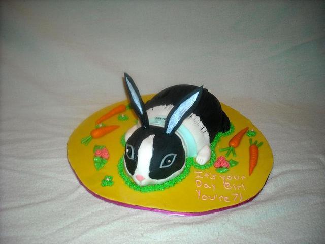 Rabbit Birthday cake