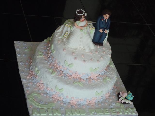 A simple wedding cake