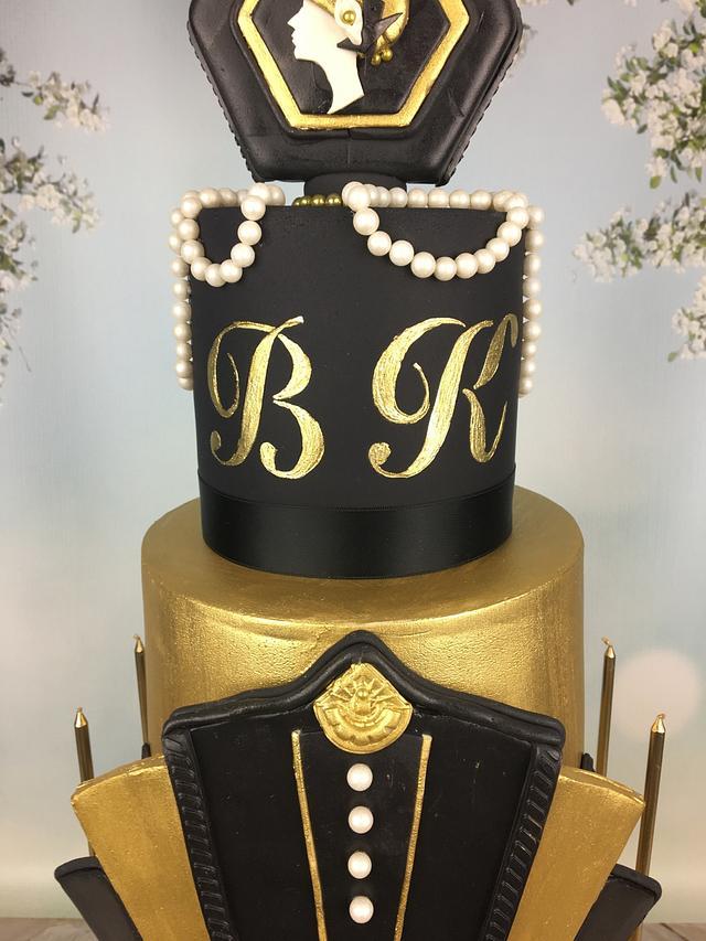Great Gatsby 30th birthday cake