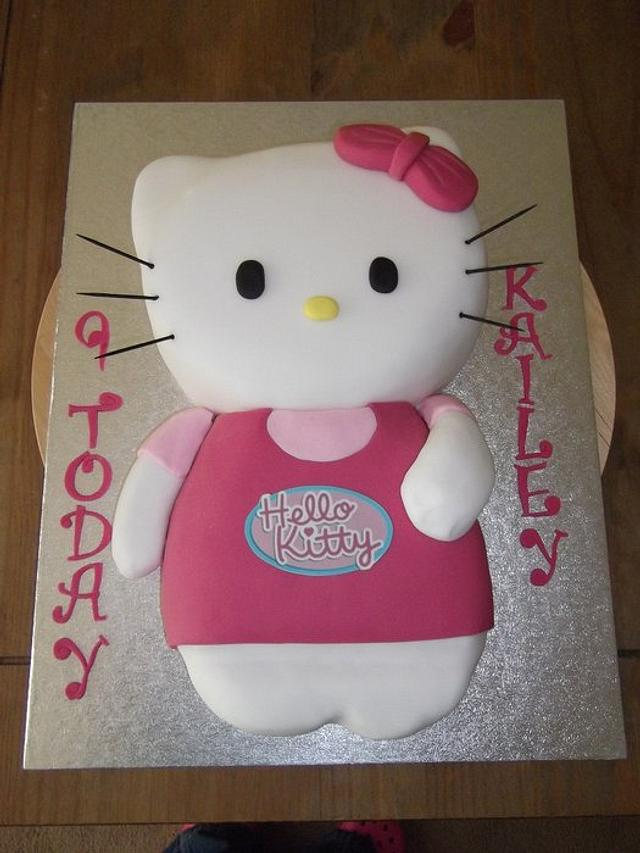 Carved Hello Kitty cake