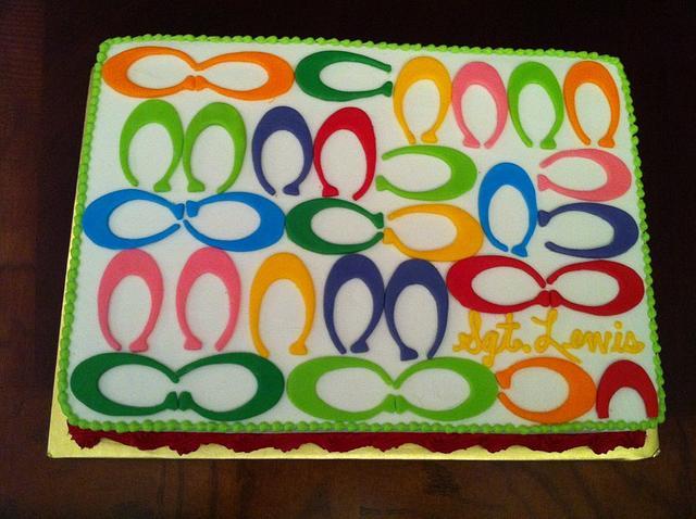 Coach Multi Color Logo Cake