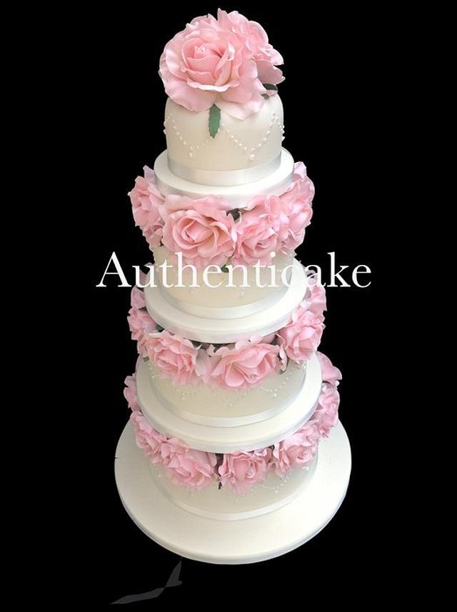 One of last week's wedding cakes @ authenticake