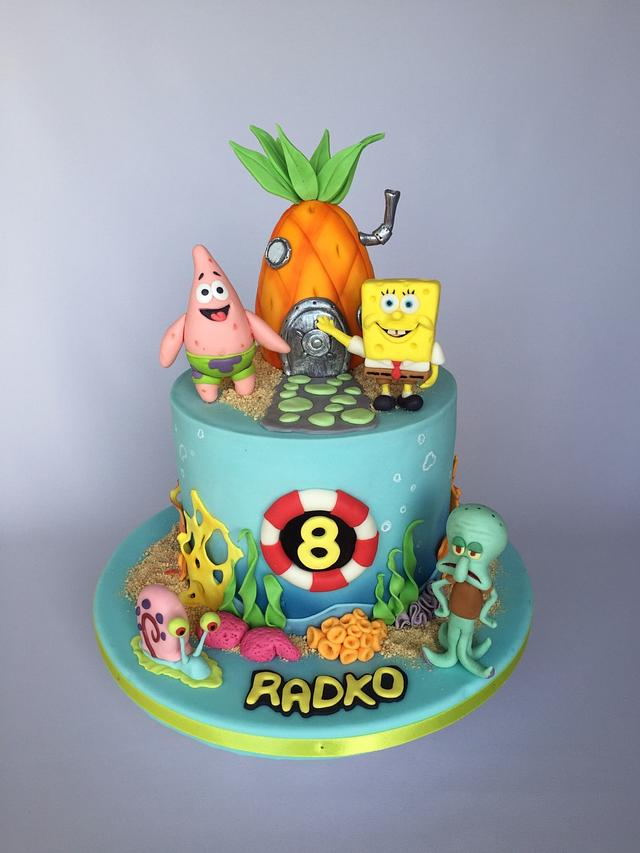 Swell Spongebob Birthday Cake Cake By Layla A Cakesdecor Personalised Birthday Cards Bromeletsinfo
