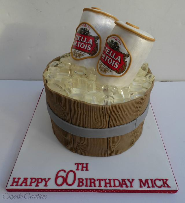 Wondrous Stella Beer Can Cake Cake By Cupcakecreations Cakesdecor Funny Birthday Cards Online Alyptdamsfinfo