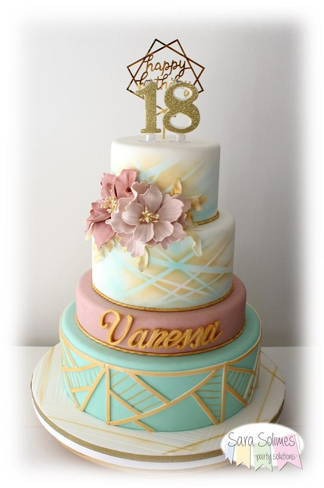 Amazing Vanessas 18Th Birthday Cake Cake By Sara Solimes Party Cakesdecor Funny Birthday Cards Online Alyptdamsfinfo