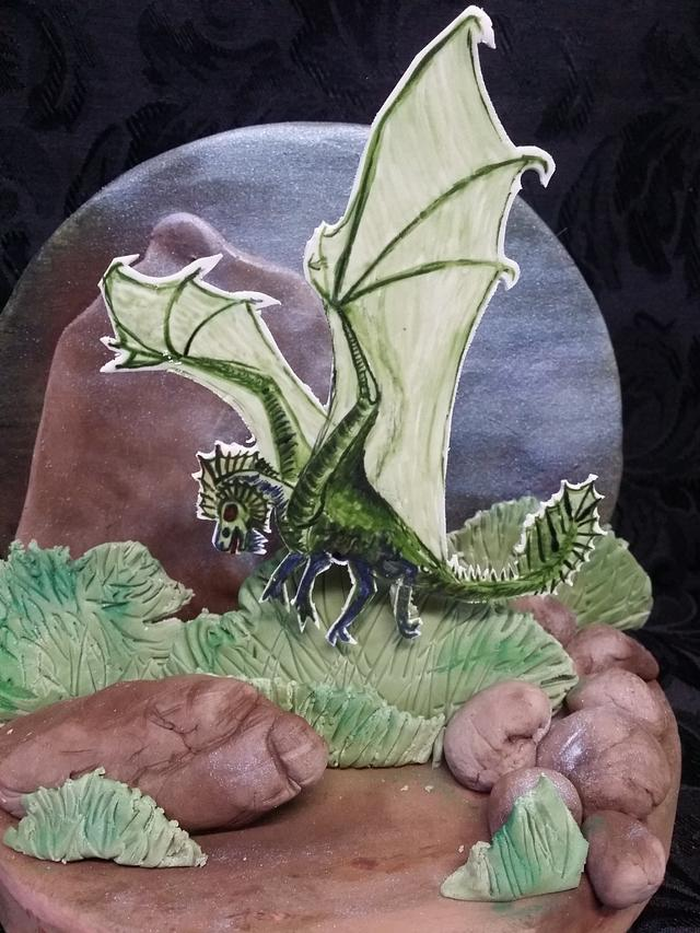 Hogwarts Cake Challenge CPC collabs Welsh Dragon