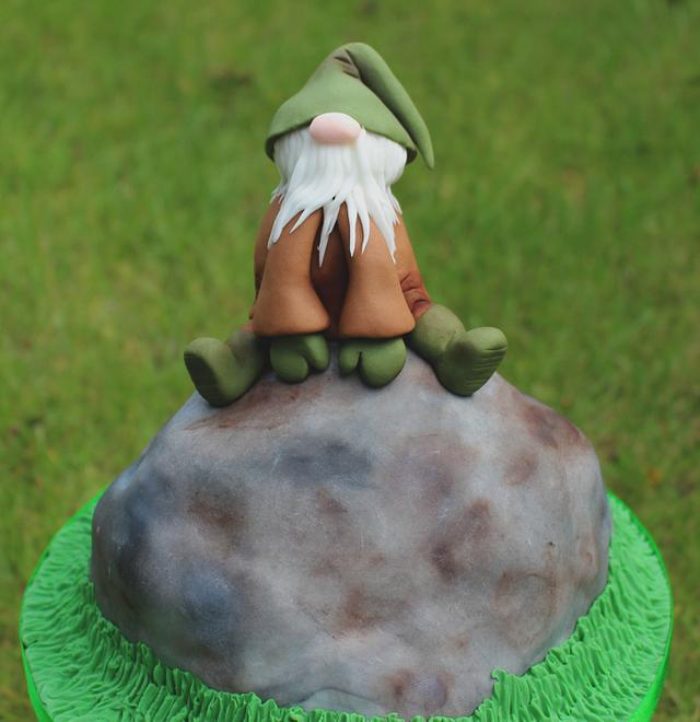 Sitting Gnome for Fairytale Forest