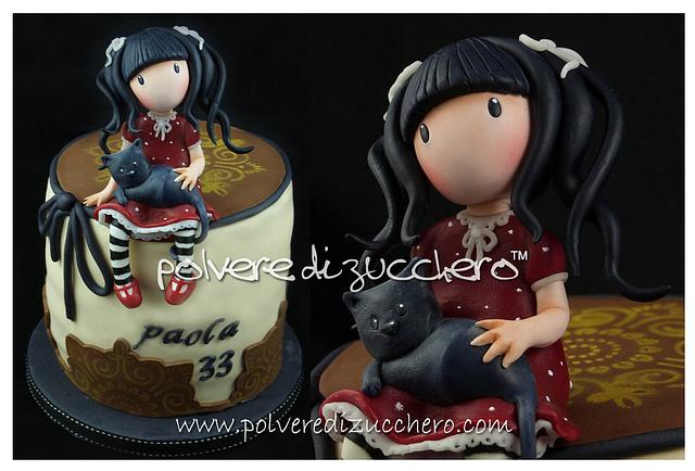 Gorjuss style cake for my birthday