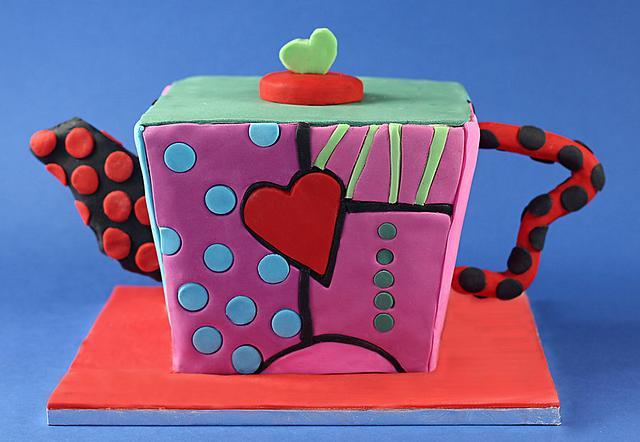 Funky Teapot Cake