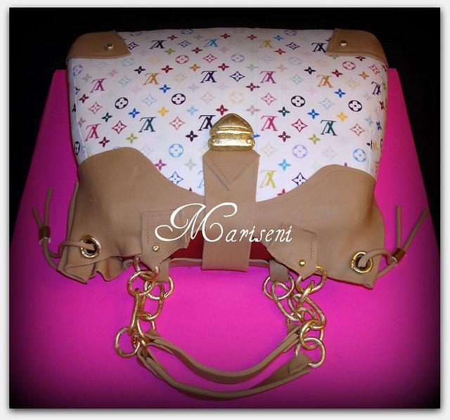 Louis Vuitton Inspired Bag Cake