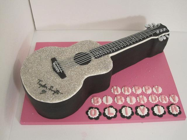 Incredible Taylor Swift Guitar Birthday Cake Cake By Sunrise Cakes Cakesdecor Funny Birthday Cards Online Elaedamsfinfo