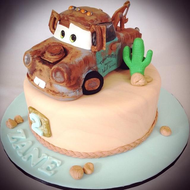 Fantastic Tow Mater Cake By Kristy How Cakesdecor Funny Birthday Cards Online Benoljebrpdamsfinfo