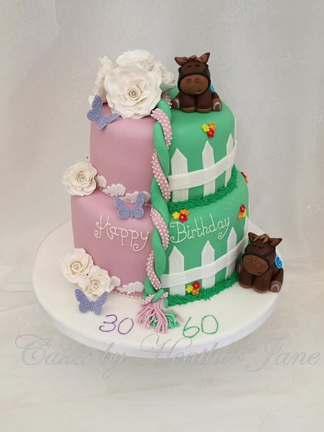 Fine Father And Daughter Joint Birthday Cake Cake By Cakes Cakesdecor Personalised Birthday Cards Xaembasilily Jamesorg