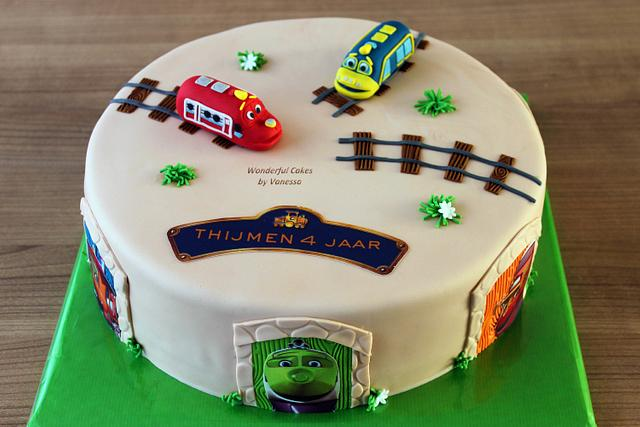 Brilliant Chuggington Cake By Vanessa Cakesdecor Funny Birthday Cards Online Overcheapnameinfo