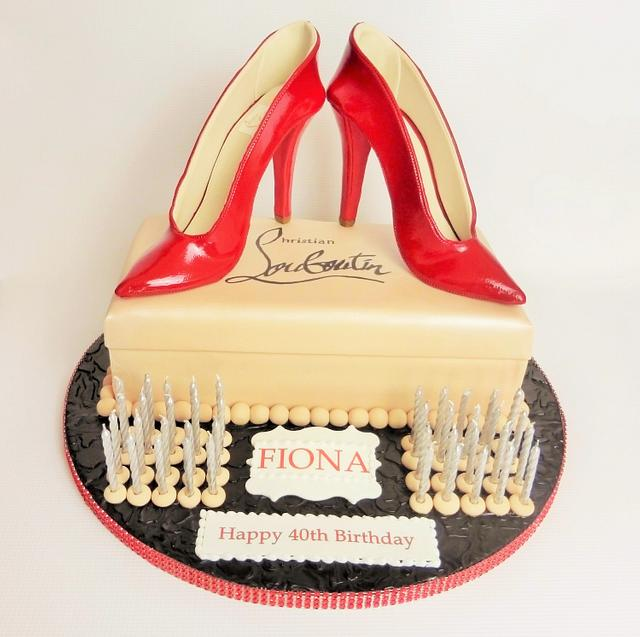 Red Patent Christian Louboutin High Heel Shoe Cake