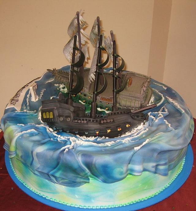 Phenomenal Pirates Of The Caribbean 3 Cake By Nadia Zucchelli Cakesdecor Funny Birthday Cards Online Aeocydamsfinfo