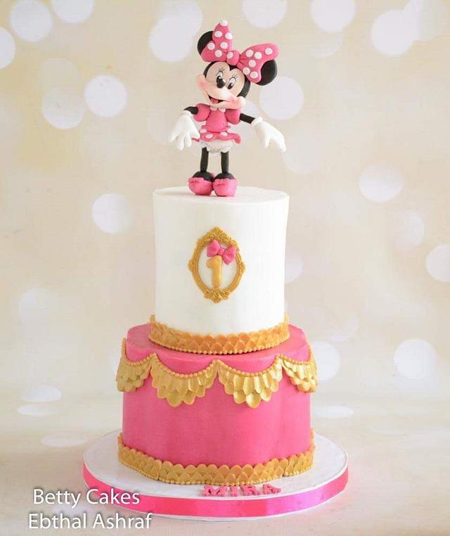 Phenomenal Minnie Mouse 1St Birthday Cake Minnie Mouse 1St Birthday Cakesdecor Funny Birthday Cards Online Ioscodamsfinfo