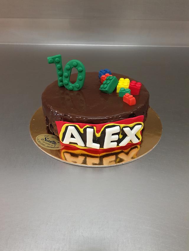 Lego drip cake