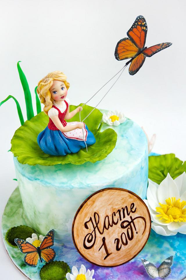 cake with Thumbelina
