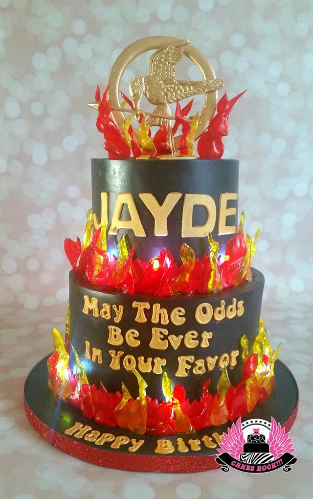 Groovy Hunger Games Catching Fire Cake Cake By Cakes Rock Cakesdecor Funny Birthday Cards Online Elaedamsfinfo