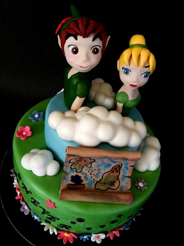 Peter Pan and Tinker Bell cake
