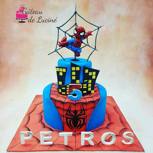 Magnificent Spiderman Birthday Cake Cake By Gateau De Lucine Cakesdecor Funny Birthday Cards Online Elaedamsfinfo