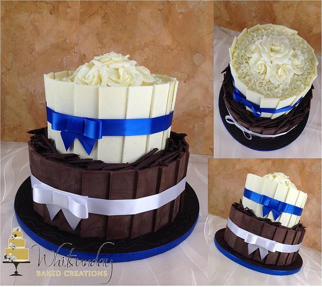 Two Tone Chocolate Shard Cake