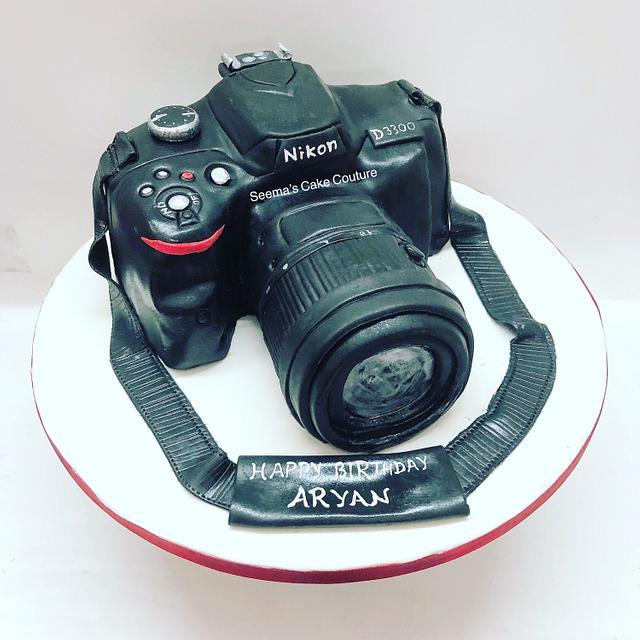 Cool Nikon Camera Cake Cake By Seema Tyagi Cakesdecor Personalised Birthday Cards Sponlily Jamesorg