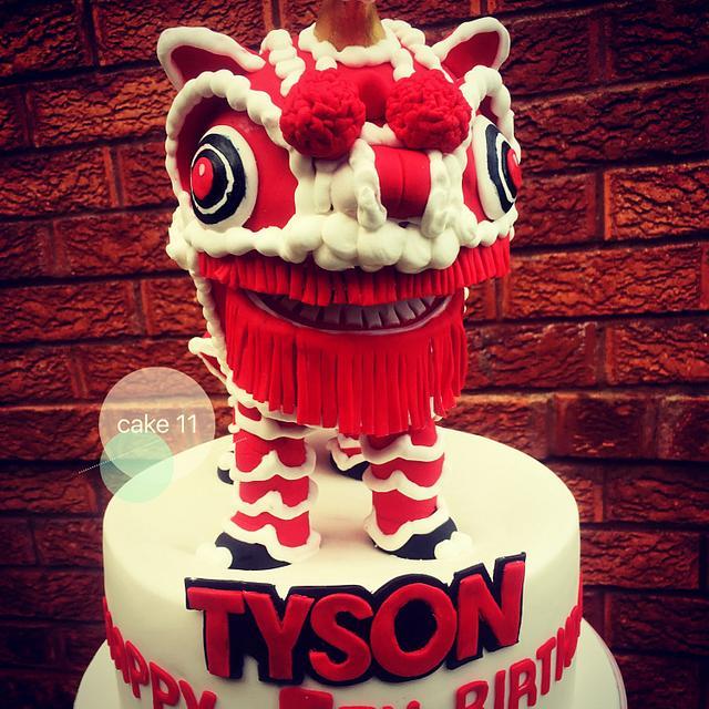 Dancing dragon cake