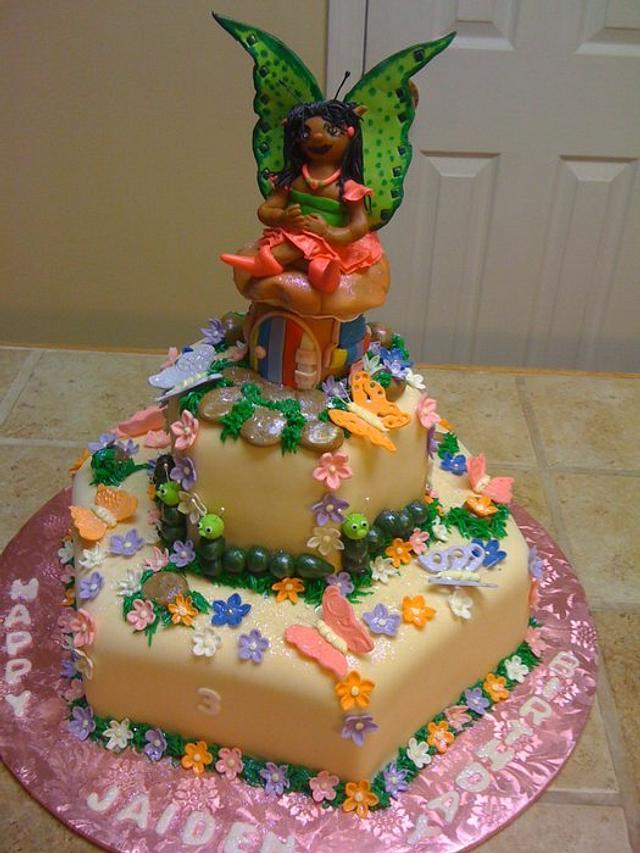Butterfly Fairy Birthday cake