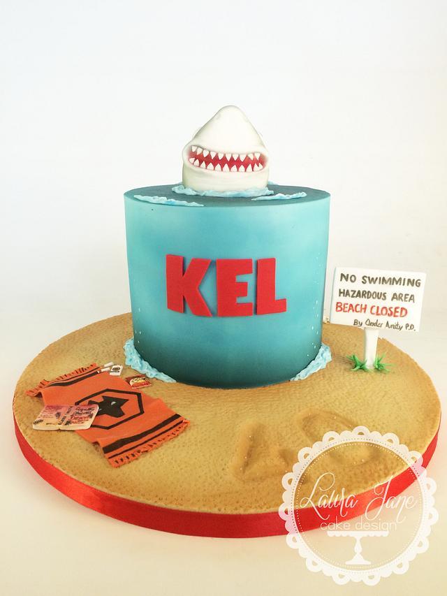 Jaws theme cake!