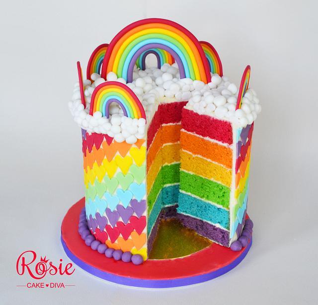 Rainbow Cake - Just a little bit colourful!