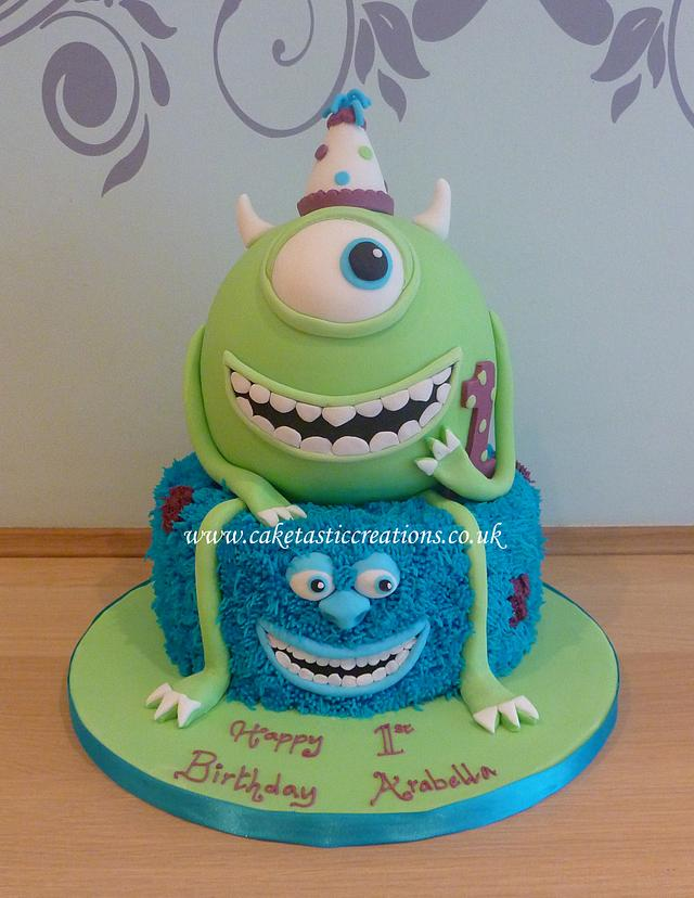 Surprising Monsters University 1St Birthday Cake Cake By Cakesdecor Personalised Birthday Cards Epsylily Jamesorg
