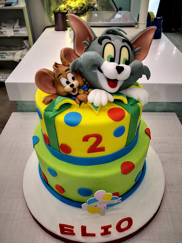 Incredible Tom Jerry Cake Cake By Patisserie Lolita Cakesdecor Birthday Cards Printable Trancafe Filternl