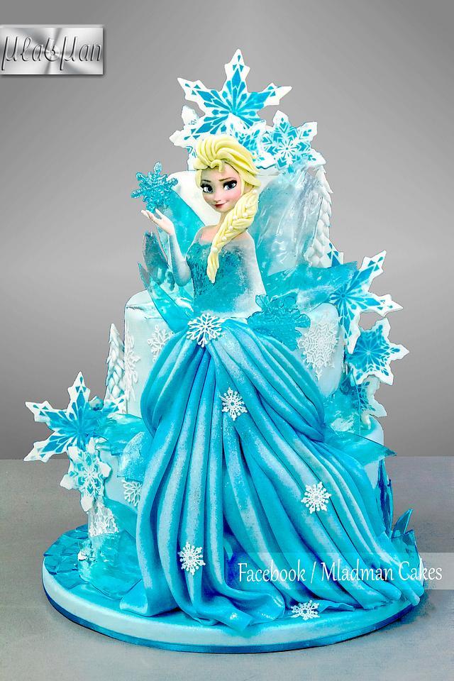 Ice Queen Elsa Cake