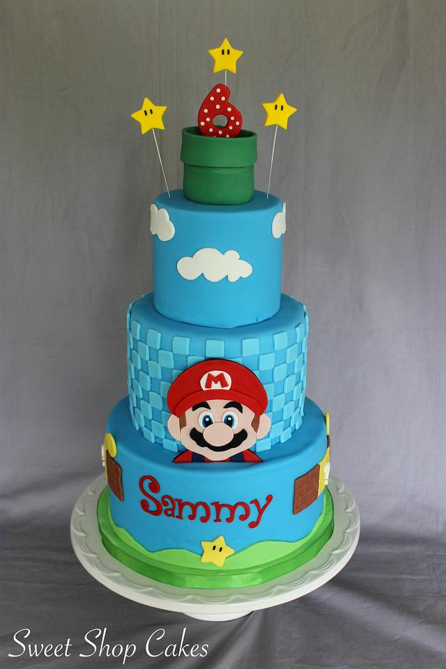 Groovy Super Mario Birthday Cake Cupcakes Cake By Sweet Shop Cakesdecor Funny Birthday Cards Online Fluifree Goldxyz