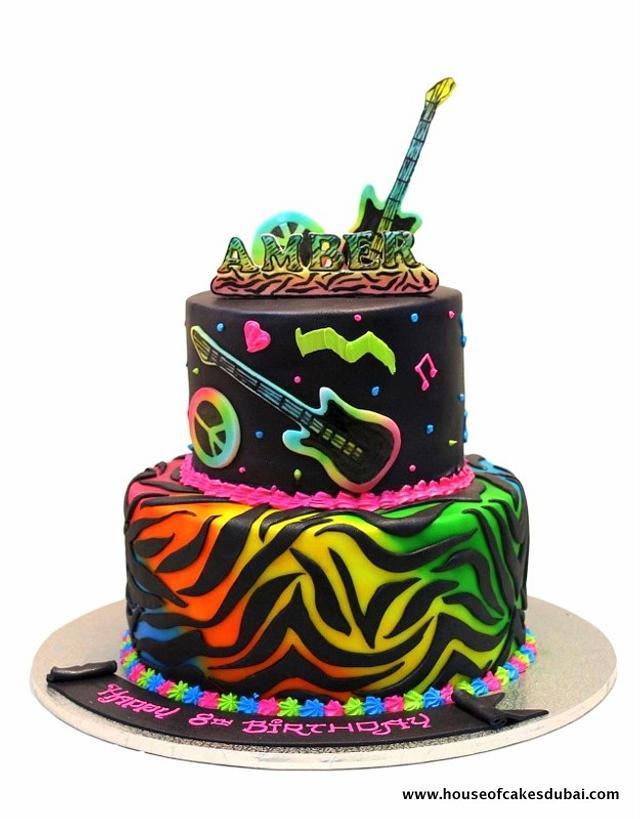 Rock theme cake