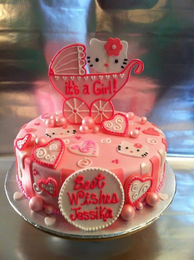 Hello Kitty Shower Cake