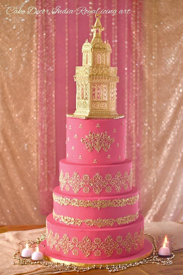 Royal icing 50th anniversary cake